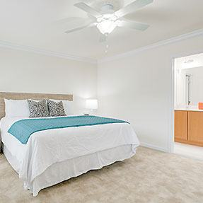 The generously sized master bedrooms in Dodson Court homes provide a great escape.
