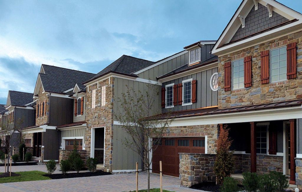 Townhomes for sale in active adult community by Reybold